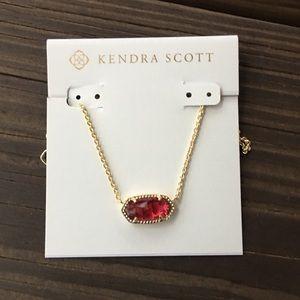 Kendra Scott Elisa Red Necklace
